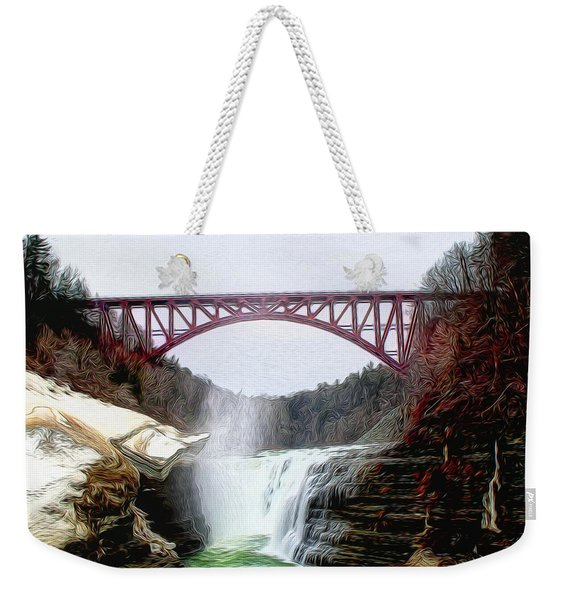 Frletchworth Railroad And Falls Weekender Tote Bag