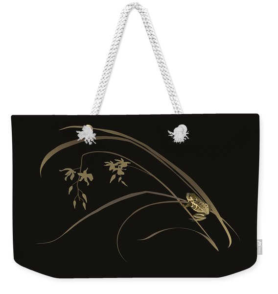 Frog And Orchid Weekender Tote Bag