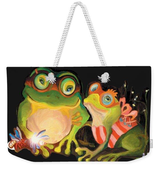 Frogs Overlay  Weekender Tote Bag