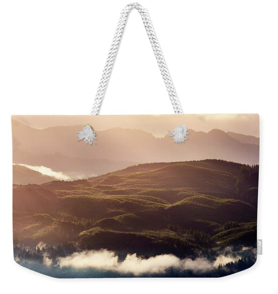 Weekender Tote Bag featuring the photograph From Neahkahnie by Whitney Goodey