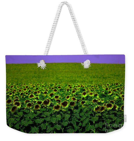 Front Row Sunflower Smiles Weekender Tote Bag