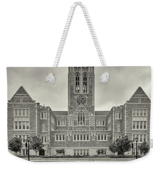 Front View Of Gasson Hall Building Weekender Tote Bag