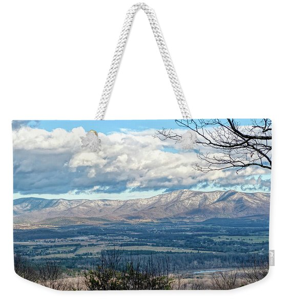 Frosted Blue Ridge Weekender Tote Bag
