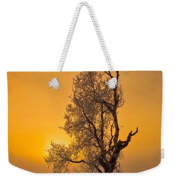 Frosted Tree Weekender Tote Bag