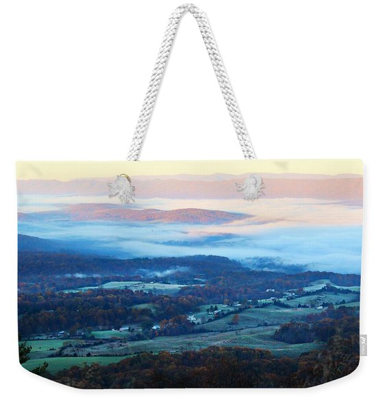 Frosty Autumn Weekender Tote Bag