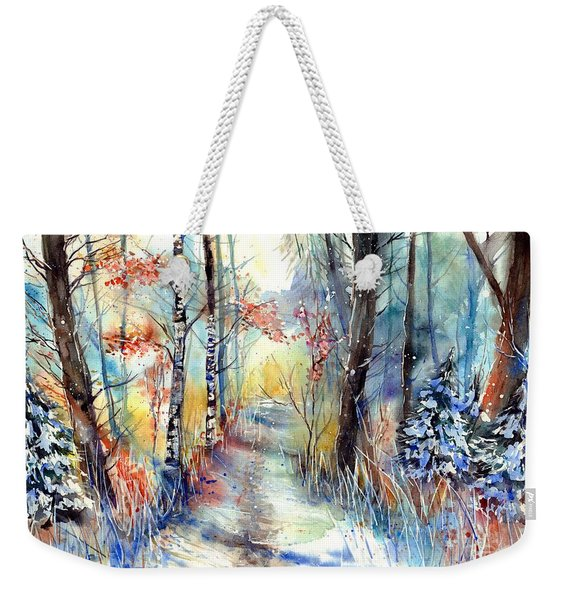 Frosty Blades Of Grass Weekender Tote Bag