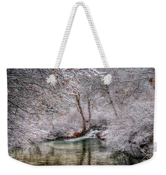 Frosty Pond Weekender Tote Bag