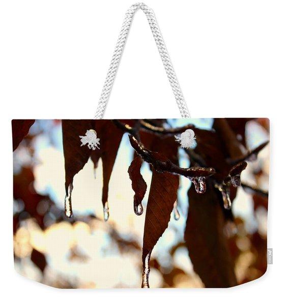 Frozen Autumn  Weekender Tote Bag