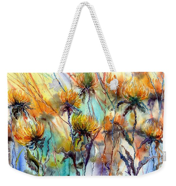 Frozen Chrysanthemums Weekender Tote Bag
