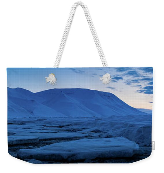 frozen coastline near Longyearbyen Weekender Tote Bag