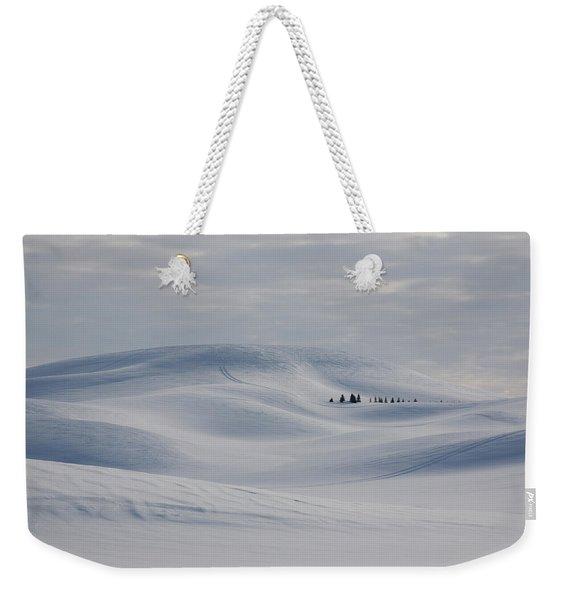 Frozen Winter Hills Weekender Tote Bag