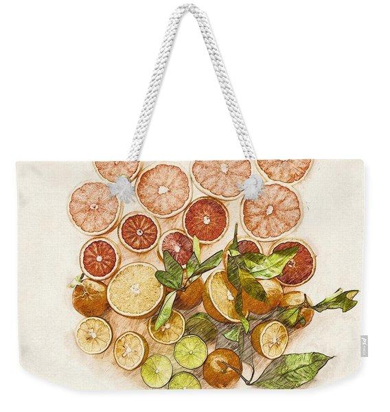 Fruits Mix Weekender Tote Bag