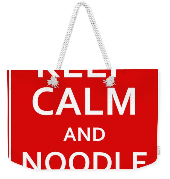 Fsm - Keep Calm And Noodle On Weekender Tote Bag