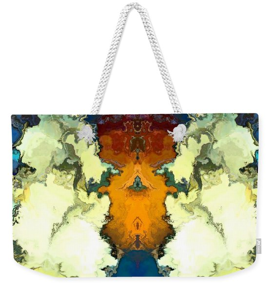 Weekender Tote Bag featuring the digital art Fuego  by A z Mami