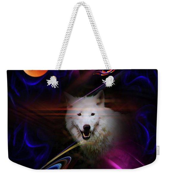 Full Moon - Blood Moon Fascination Wolf  Weekender Tote Bag