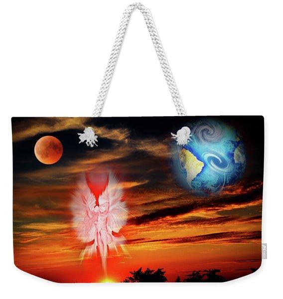 Full Moon - Fascination Blood Moon Art Print Weekender Tote Bag