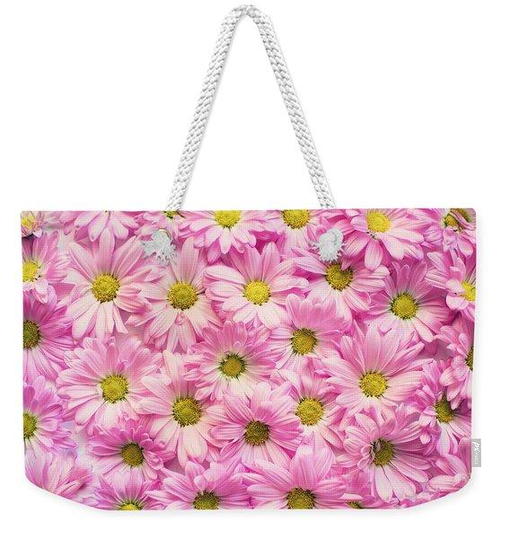 Full Of Pink Flowers Weekender Tote Bag