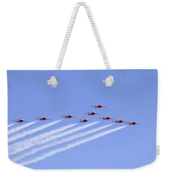 Full Squadron Salute Weekender Tote Bag
