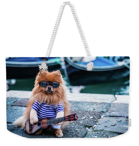 Funny Dog At The Carnival In Venice Weekender Tote Bag