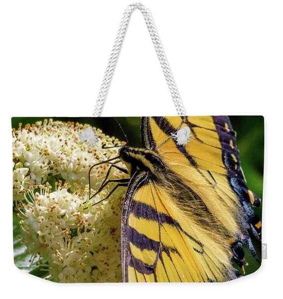 Fuzzy Butterfly Weekender Tote Bag
