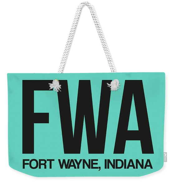 Fwa Fort Wayne Luggage Tag I Weekender Tote Bag