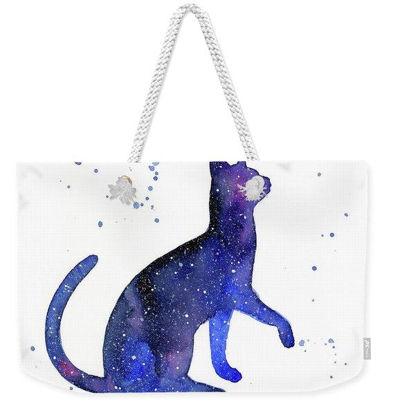 Galaxy Cat Weekender Tote Bag