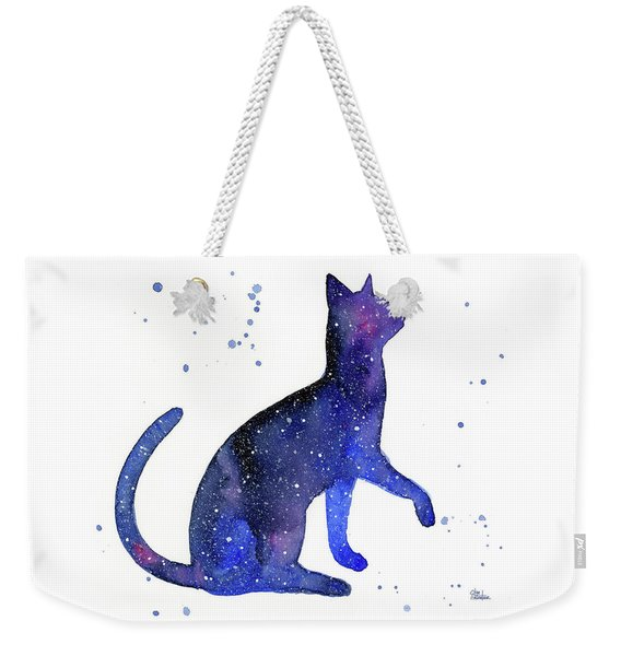 Galaxy Cat Weekender Tote Bag