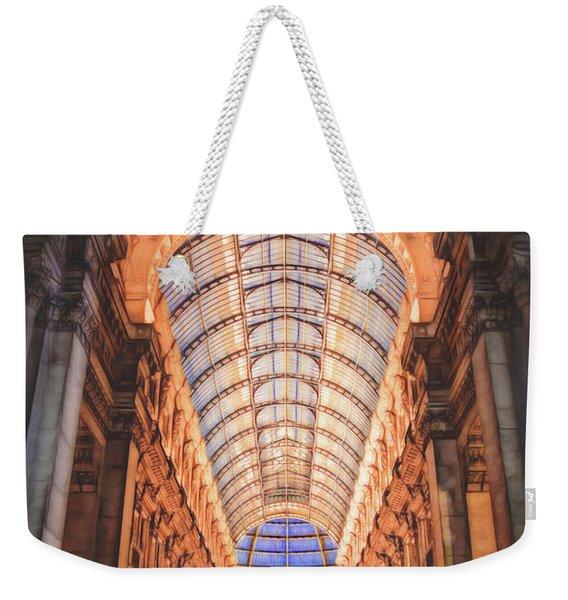 Galleria Vittorio Emanuele II Milan Italy By Night Weekender Tote Bag