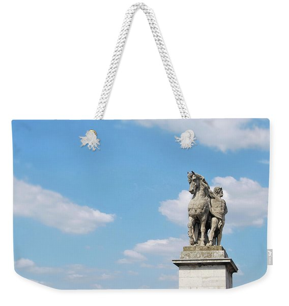Weekender Tote Bag featuring the photograph Gallic Warrior by JAMART Photography