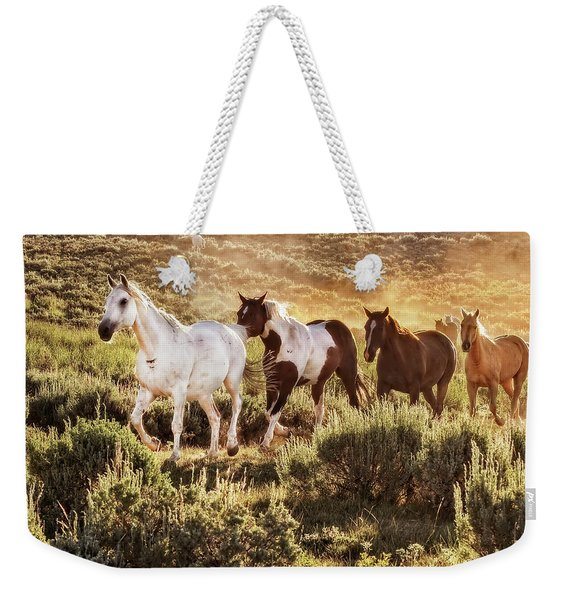 Galloping Down The Mountain Weekender Tote Bag