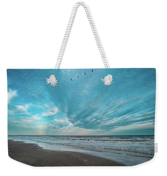 Galveston Island First Light Weekender Tote Bag