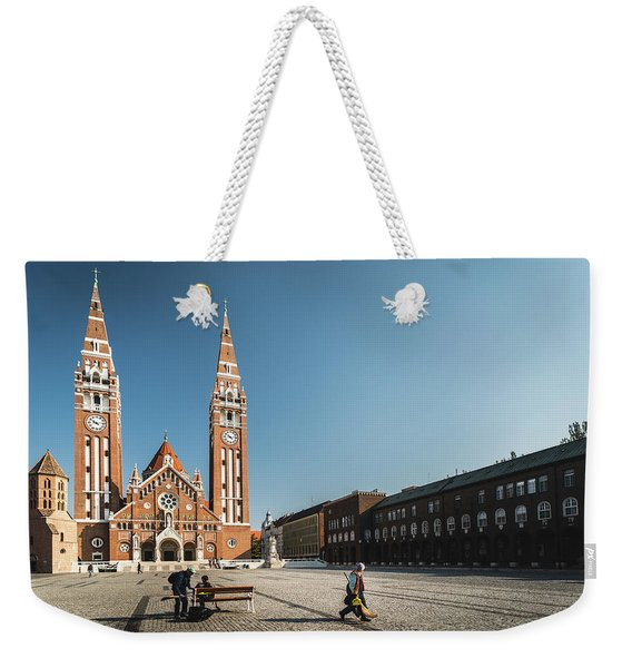 Garbage Cleaners On Dom Square In Szeged  Weekender Tote Bag