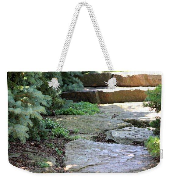 Garden Landscape - Stone Stairs Weekender Tote Bag