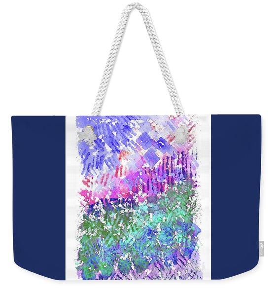 Garden Of Purple And Green Weekender Tote Bag