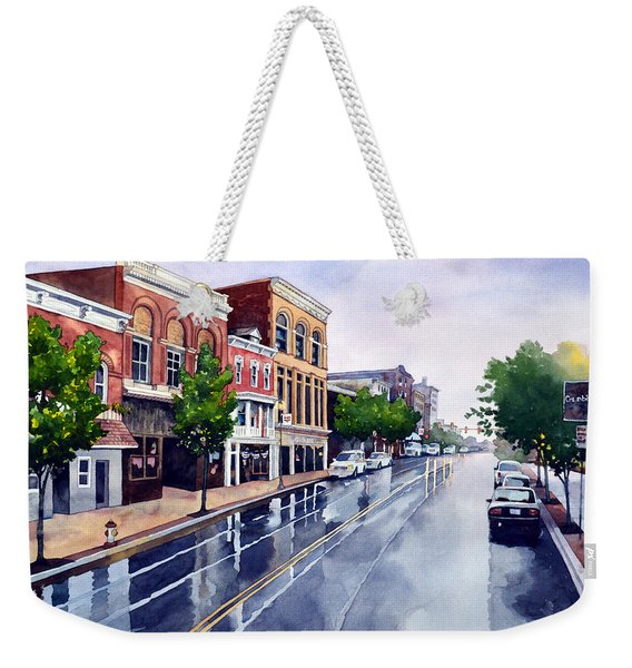 Gaslights And Afternoon Rain Weekender Tote Bag