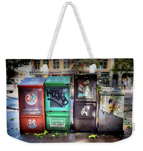 Gastown Street Newsstand Weekender Tote Bag