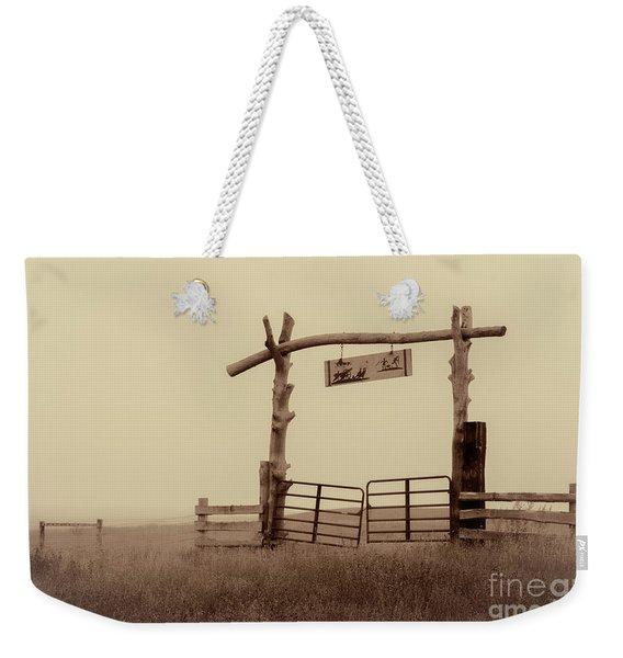 Gate In The Wilderness Weekender Tote Bag