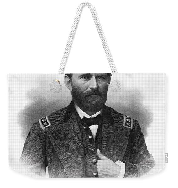 General Grant Engraved Portrait Weekender Tote Bag