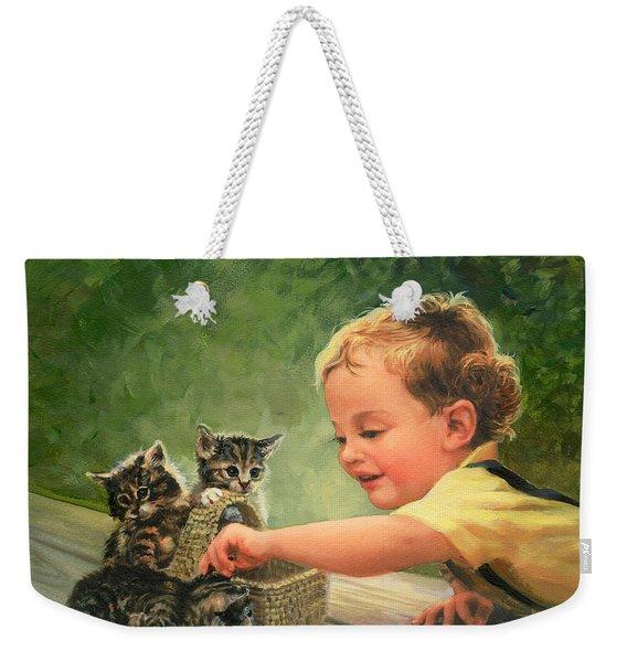 Gentle Touch Weekender Tote Bag