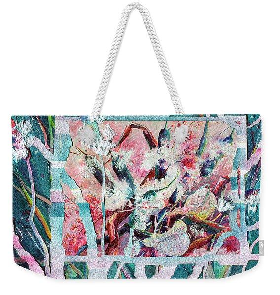 Geometric Cattails Weekender Tote Bag