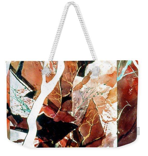Geometric Forest Weekender Tote Bag