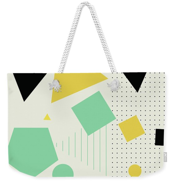 Geometric Painting 7  Weekender Tote Bag