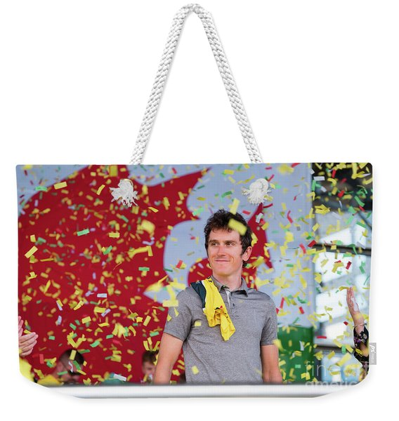 Geraint Thomas, Welsh Cyclist, Winner Of The 2018 Tour De France, Weekender Tote Bag