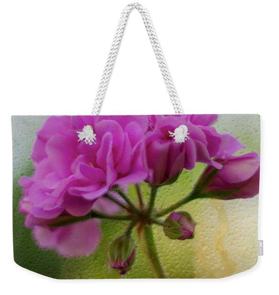 Geranium Rain  Weekender Tote Bag