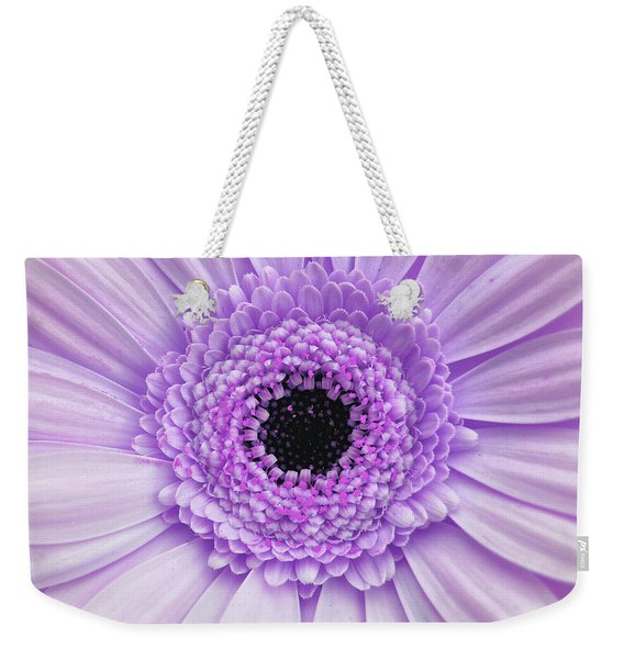 Weekender Tote Bag featuring the photograph Gerber Rainbow Purple by JAMART Photography
