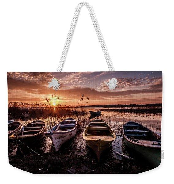 Get In Line Weekender Tote Bag