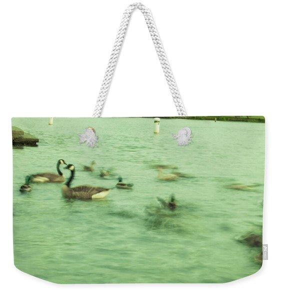Ghost Ducks Weekender Tote Bag