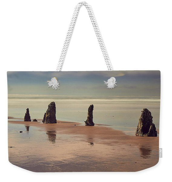 Weekender Tote Bag featuring the photograph Ghost Forest by Whitney Goodey