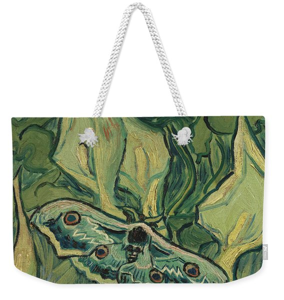Giant Peacock Moth Weekender Tote Bag