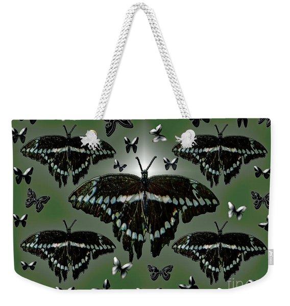Giant Swallowtail Butterflies Weekender Tote Bag